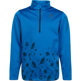 Odlo Carve Light Midlayer con mezza zip Bambino, energy blue